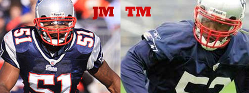 Tyrone McKenzie and Jerod Mayo